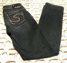Silver Aiko Mid Slim Boot Jeans Sz 27/33 Actual 30 x 31 ~*~ EXCELLENT