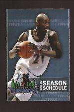 Kevin Garnett--Minnesota Timberwolves--2005-06 Schedule--Miller Genuine Draft