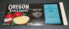 Oregon Fruit Apple Sauce Oregon Fruit Products Co Salem Oregon Can Label