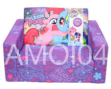 My Little Pony Kids Girls Foam Flip Out Sofa Couch Firm New
