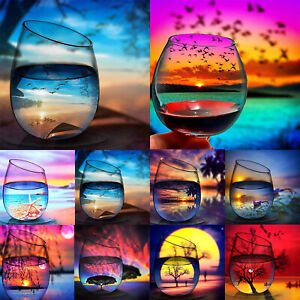 DIY 5D Cup Full Drill Diamond Painting Cross Craft Stitch Embroidered Kit Decor