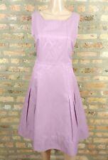 SINCLAIRE 10 Designer Lilac Pastel Purple Fit & Flare Pinup 50s Style Dress 12