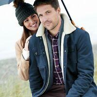 Samuel Windsor Men's Cotton Bedford Cord Jacket Borg Fleece Collar Sizes S-XXXL