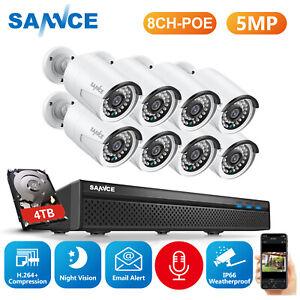 SANNCE 5MP 8CH POE Audio Caméra Surveillance Sécurité NVR Avec microphone IP66