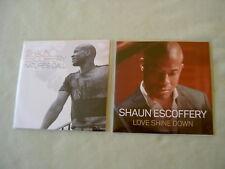 SHAUN ESCOFFERY job lot of 2 promo CDs Nature's Call (Remixes) Love Shine Down