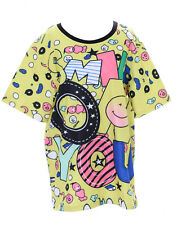 t-47 amarillo multicolor SMILE Emoji Sonrisa Camiseta pastel goth LOLITA Japón