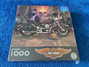 "1996 Licensed By Harley Davidson Springbok 1000 pcs. Puzzle 24"" x 30"" New Sealed"