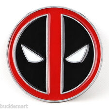 DEADPOOL X-Men Wade Wilson Belt Buckle XMen marvel red black enamel WOW!
