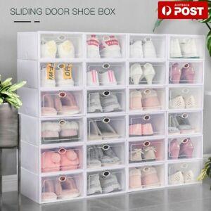 6/12/24 Set Transparent Shoe Storage Box Stackable Household Drawer Organizer