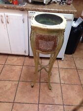 New listing Charming Rustic G/ W Antique French Plant stand Planter Copper Lined Wicker