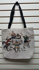 Annie Lee Boston Time Tapestry Purse Tote Bag/Black Americana/African American