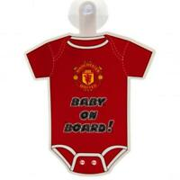 Official MANCHESTER UNITED FC  Baby On Board Car Sign 18cm x 16cm Man Utd Gift