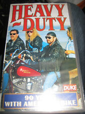 HEAVY DUTY 90 YEARS WITH AMERICA'S BIKE / HARLEY DAVIDSON  SCARCE VHS PAL VIDEO