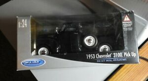 WELLY 1953 CHEVROLET 3100 PICK UP 1/24 COLLECTION - BLACK - UNOPENED BOX