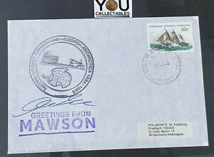 """1985 AUSTRALIA cover Maiden Voyage German mv """"Icebird"""" Antarctica - Mawson"""