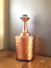 LARGE VINTAGE HAMMERED BEATEN COPPER DESK TABLE LAMP BASE RETRO 70'S MID CENTURY