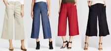 NWT Merona Wide-Leg Crop Pants Culottes Goucho Khaki,Denim,Red,Black Sz 2,4,6,8