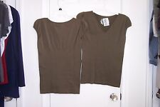 NEW Womens Jozephine One Size Green Cap Sleeve Blouse
