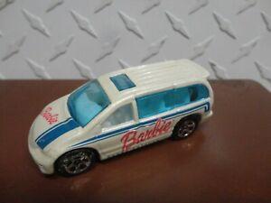 Loose Hot Wheels White Barbie Dodge Caravan