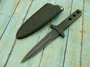VINTAGE PARKER JAPAN BLACK BOOT COMBAT TACTICAL DAGGER KNIFE & SHEATH KNIVES