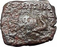 Menander I Soter 155BC Indo Greek Kingdom of India ELEPHANT Ancient Coin i47469