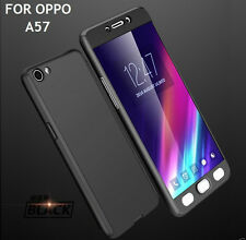 ORIGINAL iPAKY Hybrid 360 Full Protection LOGO Cover Case for Oppo A57 Black