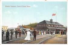 COEUR d'ALENE, KOOTENAI COUNTY, IDAHO, ELECTRIC TERMINAL, TRAIN, c. 1907-14