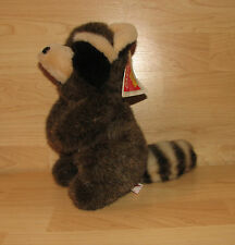 "12"" Vintage Dakin Plush 1989 Ricky Raccoon New With Tags Nwt"