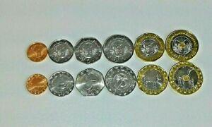 MAURITANIA Coins 6 pcs.(1/2, 1, 2, 5, 10, 20 Ouguiya Tri-Metallic) 2017/2018 UNC