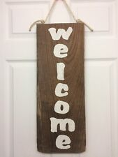 """Barn Wood Painted Sign """"welcome"""""""