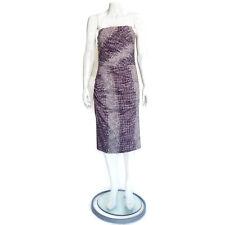 SAMANTHA SUNG Fabulous! Purple Snakeskin Print Dress size 4