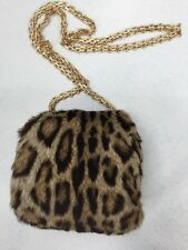 "FASHION BOBCAT SPOTTED FUR MUFF HANDWARMER 6""x7"""