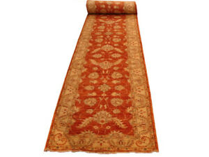 18 foot runners for hallways Ruby Red Jewel Tone Handmade Chobi Peshawar Rug