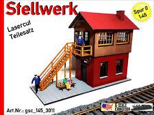 Stellwerk Backstein NEUHEIT 2016 - Lasercut - Spur 0 - 1:45 - gsc_145_3011