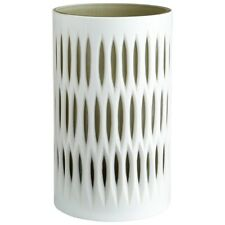 Cyan Design Small Marquise Vase, White and Smoked - 06757