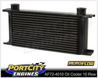 Aeroflow Engine or Trans Oil Cooler 10 row 77mm H x 330m L x 51mm W AF72-4010