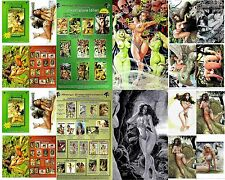 CAVEWOMAN PREHISTORIC PINUPS, 5 Uncut COVERS Set of BUDD ROOT Art, Nude, Amryl
