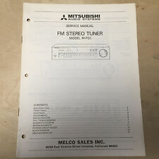 Original Mitsubishi Service Manual for the M-FO1 Tuner ~ Repair