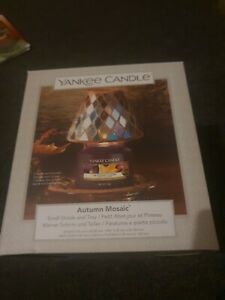 Official Yankee Candle Autumn Mosaic Small Shade & Tray Set