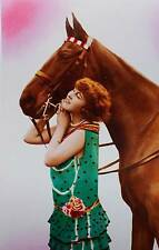 Vintage art , Lady Glamour Horse Color 13