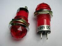 1x RED JEWEL PILOT INDICATOR LIGHT/SIGNAL LAMP 12V