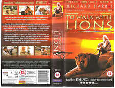 TO WALK WITH LIONS VHS PAL RICHARD HARRIS,IAN BANNEN,HONOR BLACKMAN RARE 90'S