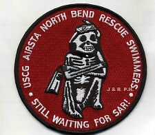 "USCG Coast Guard Patch - Air Station North Bend Swimmer, OR (4.5"" round)(fire)"
