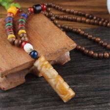 1pc Vintage Ethnic Wood Wooden Beaded Necklace Pendant Handmade Jewelry Bohemian #1