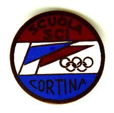 Spilla Scuola Sci Cortina Diametro cm 2