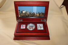 September 11 memorial commemorative 1 oz silver coin and stamp proof set