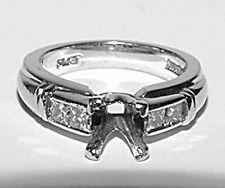 SCOTT KAY Setting Mounting PLATINUM Princess Diamond Engagement Ring Size 5