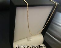 100% Solid 9K Australian Yellow Gold Necklace 1mm 50cm Curb CHAIN 1.64 grams