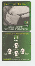 ★ HEINEKEN ★ RUGBY Sous bock coaster deckel #3 L'OUVERTURE & LE CENTRE H-Cup
