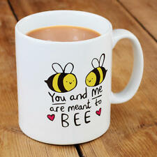 New Katie Abey You and Me are Meant to BEE Porcelain Gift Mug Funny Cute For Her